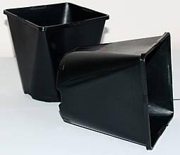 Горшок для рассады 2л,(14x14x14см),квадратно-круглый, черный