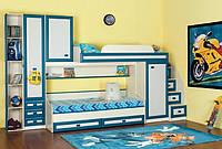 """Детская двухъярусная кровать со шкафом """" Каспер """""""