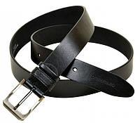 Кожаный прочный мужской ремень 05329 black (черный) 3.5см(р)