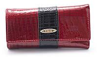 Солидная ярко красная лаковая ключница H.VERDE art. 2232B-PL.1-44 red