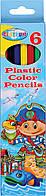 Пластиковые цветные карандаши 6 шт Centrum Pirane