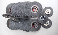 Абразивная щетка Пиранья круг полировальный D125 мм F80