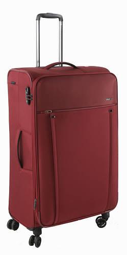 Качественный  4-колесный тканевый чемодан-гигант 108/128 л. Roncato Zero Gravity 4431/89 т.красный