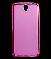 Чехол накладка для Lenovo Vibe S1 силиконовый матовый, Розовый