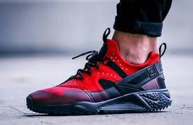 """Кроссовки мужские в стиле Nike Air Huarache Utility """"Gym Red"""""""