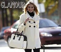 Пальто кашемировое женское Короткое с завышенной талией