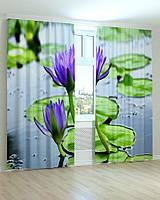 Фотошторы цветы лилия на воде