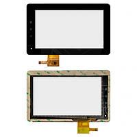 Touchscreen (сенсорный экран) для GoClever Tab A73, 12 pin, оригинал (черный)