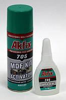 Супер клей гель с активатором «Akfix 705», (50 г + 200 мл)
