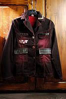 Пиджак для девушки бордовый