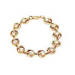 Золотой браслет с цирконием /фианитами