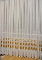 Тюль шифоновая с атласной полосой NT-111, фото 1