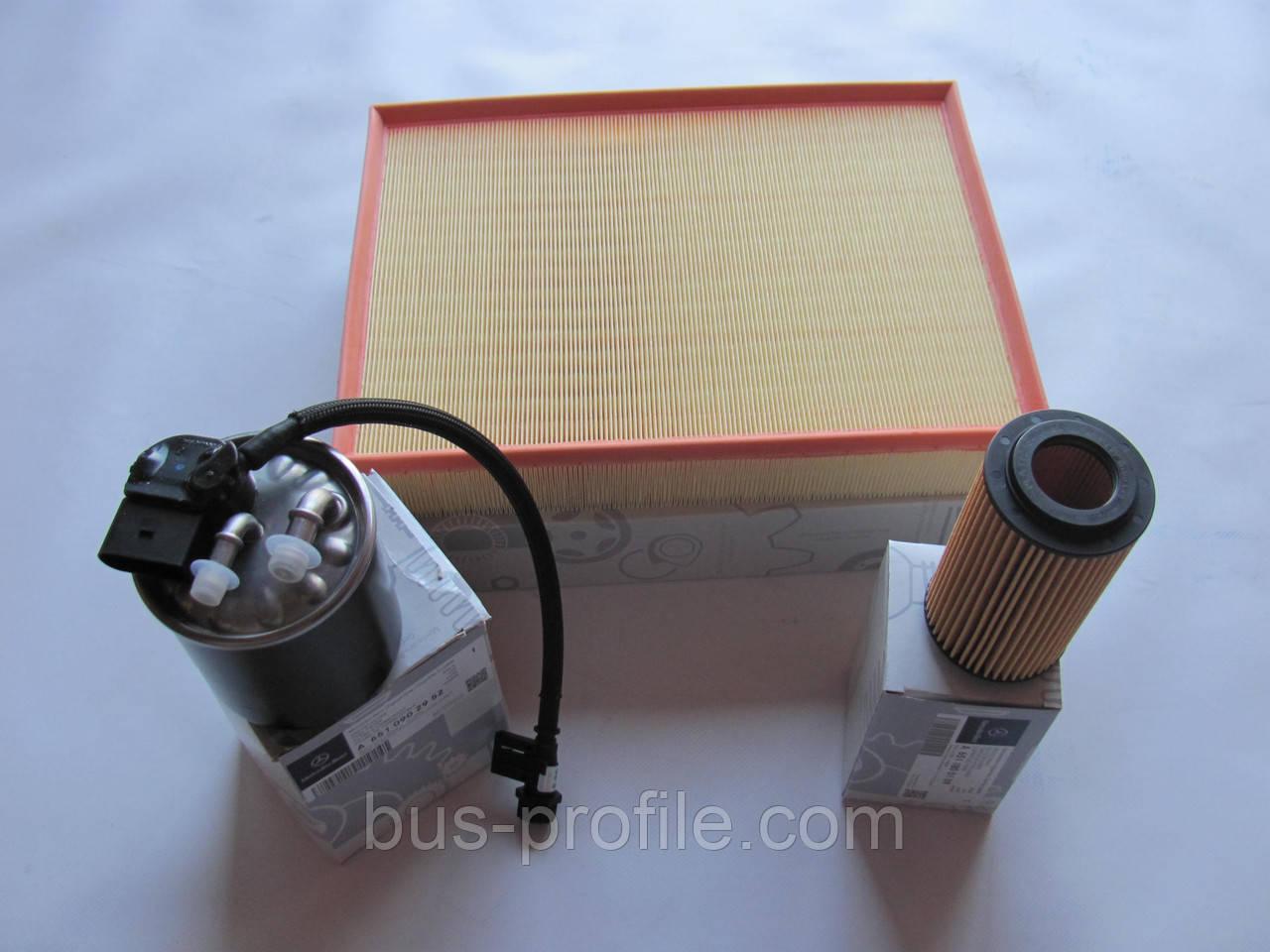 Комплект фильтров на MB Sprinter 906 OM651 2009→ — Mercedes Original — 0001806409