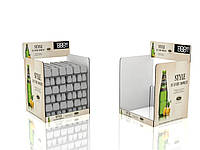 Паллетный дисплей для выкладки бутылированной продукции