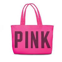 Сумка Victoria's Secret розовая с надписью Pink