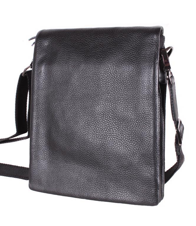 Мужская кожаная сумка 3001666 черная