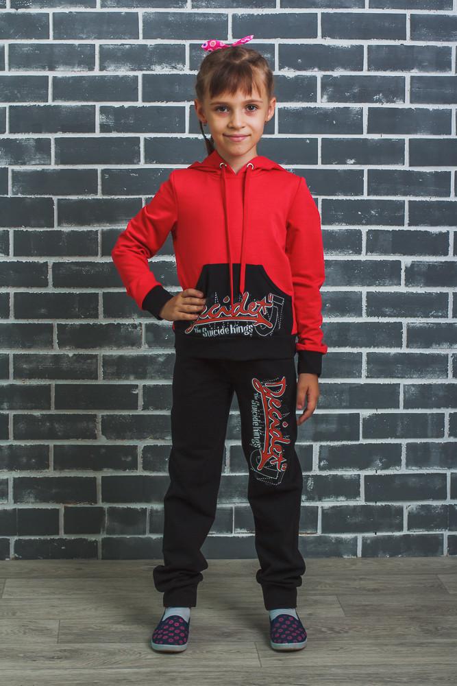 Костюм спортивный с капюшоном красный