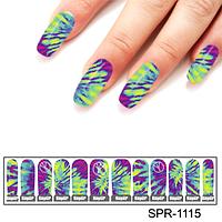 Фотодизайн для ногтей Ультрафиолетовый всплеск