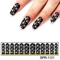 Фотодизайн для ногтей Серебряные ромбы