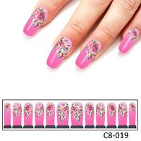 Слайдер для дизайна ногтей «Королевский цветок»