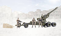 Военный набор гаубица с 3мя фигурками