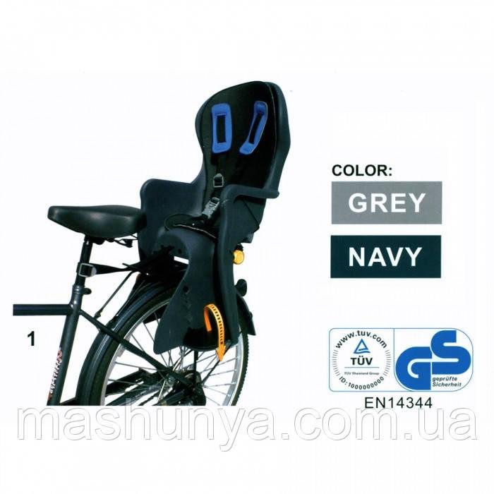 Велокресло Tilly Easy Fit T-841 до 22 кг ставится на багажник