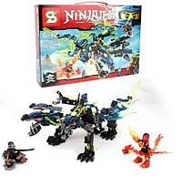 Конструктор Ninja Трёхглавый дракон Аналог LEGO Ниндзяго , фото 1
