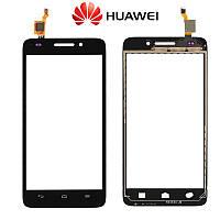 Сенсорный экран (touchscreen) для Huawei Ascend G620S, черный, оригинальный