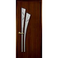 Двери межкомнатные Новый стиль Лилия орех 3d ПО+Р3