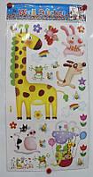 """Декор - купаж """"Жираф"""" Размер наклейки 68 х 34 см."""