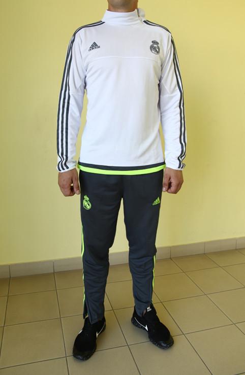 6d0a98ae Мужской спортивный костюм Adidas CF 99985 белый с серым и зеленым код 356 б  - СПОРТ