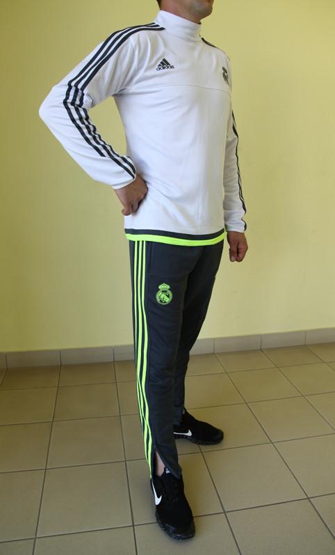 fb58e3e7 ... фото · Мужской спортивный костюм Adidas CF 99985 белый с серым и зеленым  код 356 б, ...