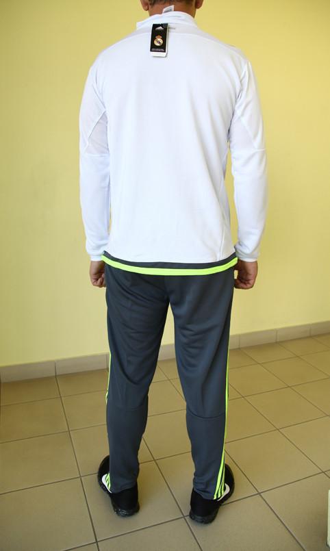 35562106 Мужской спортивный костюм Adidas CF 99985 белый с серым и зеленым код 356 б,  цена 1 470 грн., купить в Северодонецке — Prom.ua (ID#340242069)