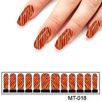 Фотодизайн для ногтей диагональные полосы