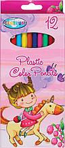 Кольорові олівці 12 штук Plastic