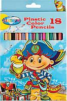 Набор из 18 пластиковых цветных карандашей Centrum Pirate