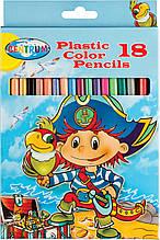 Набір з 18 пластикових кольорових олівців Centrum Pirate