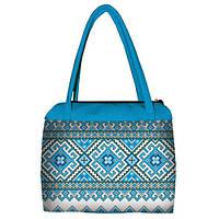 Женская сумка с рисунком под вышивку