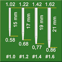 MATCHPOST FINISHING DRILL  -  финишная дриль для стекловолоконных штифтов #1.0 -1.6
