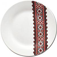Тарелка 18 см Вышиванка красное и черное .