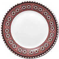 Тарелка 20 см Вышиванка красное и черное.