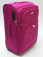 Чемодан дорожный на колесах тканевый розовый 61х40х25 см