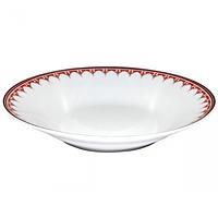 Тарелка суп 21 см Вышиванка красный ромб.