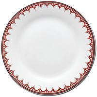 Тарелка 20 см Вышиванка красный ромб.
