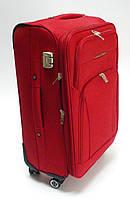Чемодан дорожный  красный  средний 4 колесный Размер 60х40х25 см