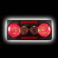 Задняя оптика на Lada 2105 черный ABS 3D (эконом) RS05-07647 NEW