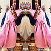 Женская кашемировая жилетка-накидка с мехом
