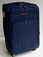 Чемодан дорожный четырехколесный  темно синий маленький 49х36х22 см