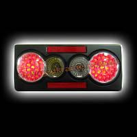 Задняя оптика на Lada 2105 черный ABS 3D, иммитация светодиодов (эконом) RS05-07648 NEW