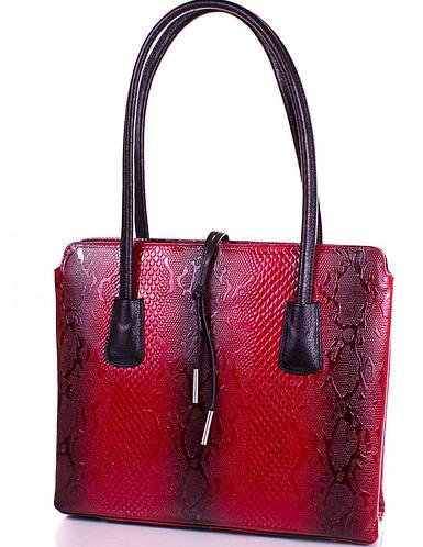 Элегантная женская кожаная сумка DESISAN (ДЕСИСАН) SHI062-1ZM (красный)